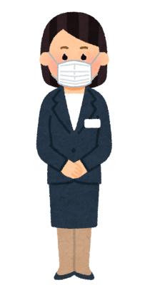 mask_stand_businesswoman